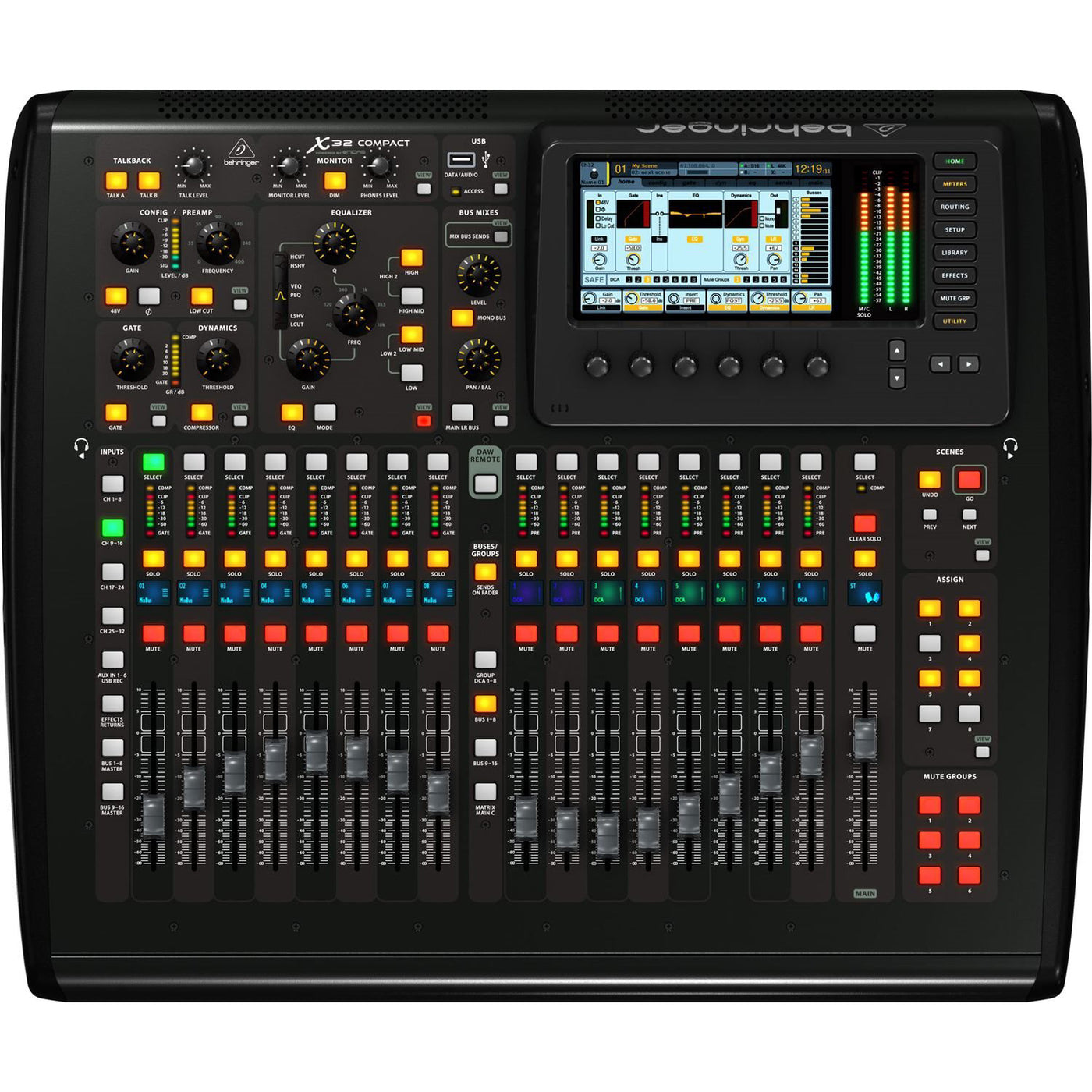 Behringer X32 Compact Digital Mixer with Motorized Faders and Virtual FX  Rack