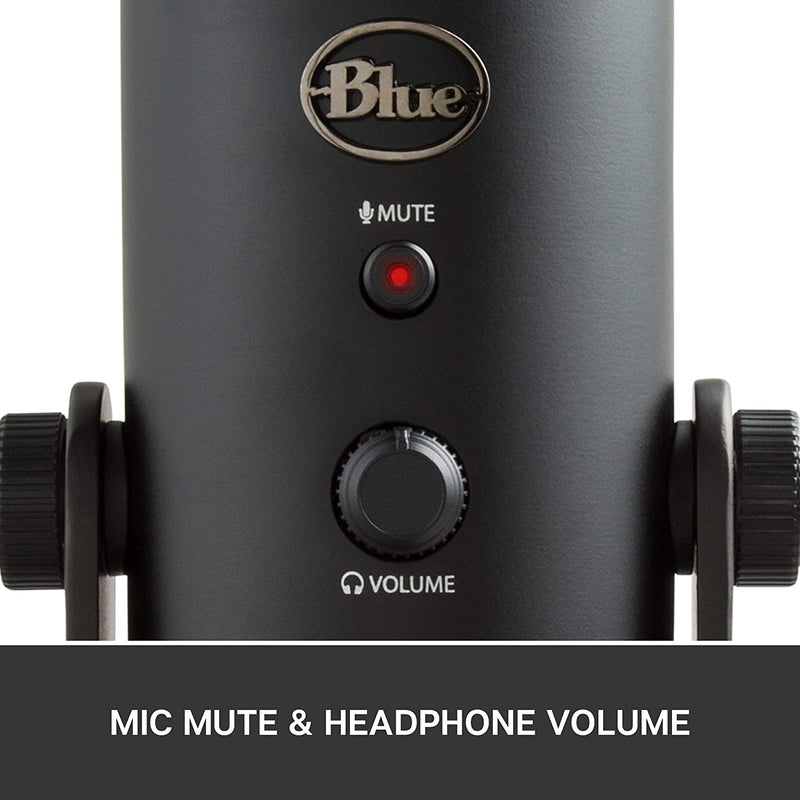 Blue Microphones Yeti Multi-pattern USB Condenser Microphone - Blackout