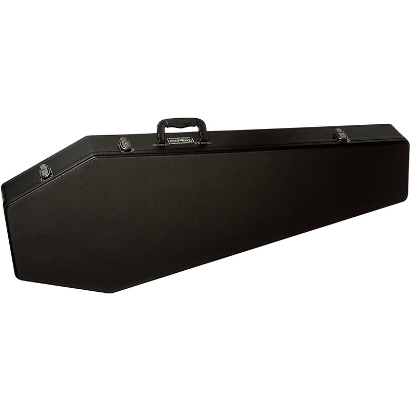 Coffin Case G-185R Standard Size Guitar Case - Black with Red Velvet Interior