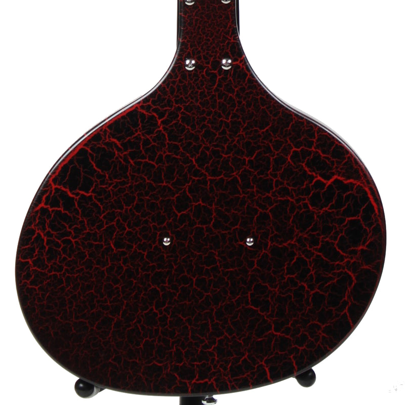 Danelectro Baby Sitar Electric Guitar - Red Crackle Finish