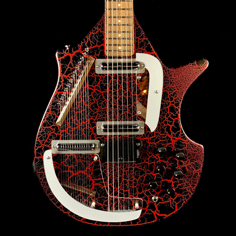 DANO CORAL SITAR-RED CRACKLE