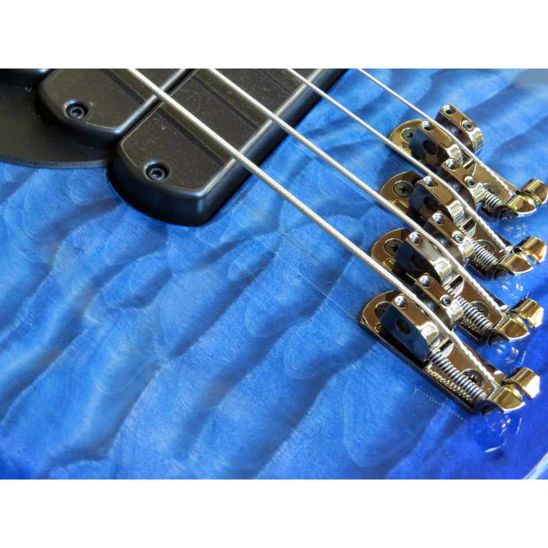 Dingwall Combustion 3X 4-String Multi-Scale Bass - 3-Pickup Quilt Top Indigoburst w/Maple Fretboard