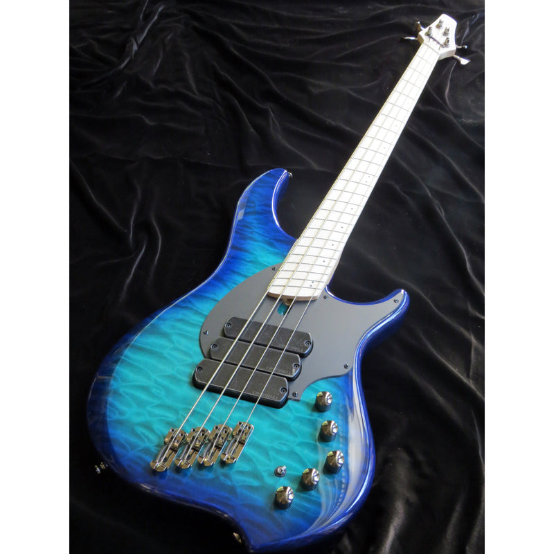Dingwall Combustion 3X 4-String Multi-Scale Bass - 3-Pickup Quilt Top Whalepoolburst w/Maple Fretboard