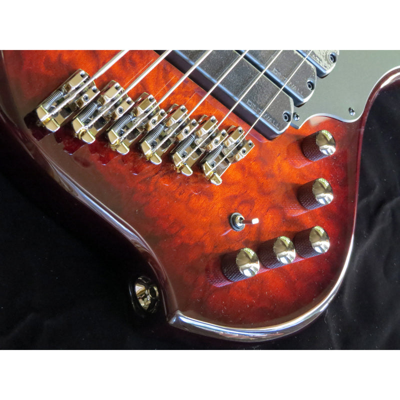 Dingwall Combustion 3X 6-String Multi-Scale Bass - 3-Pickup Quilt Top Vintage Burst w/Pau Ferro Fretboard