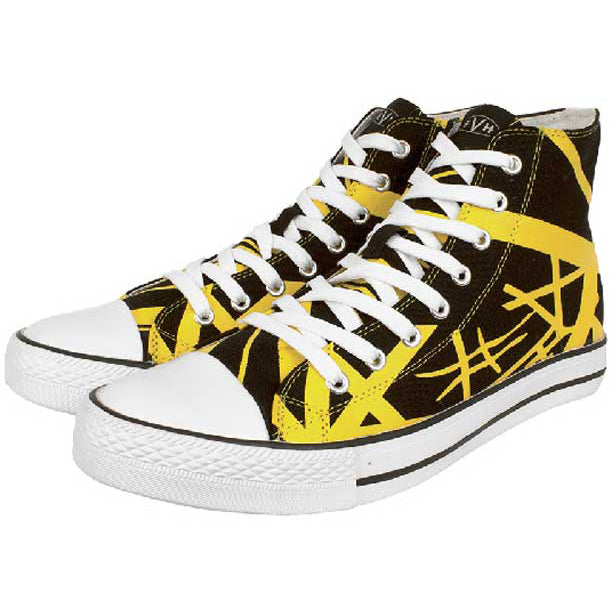 EVH Yellow High Top Sneakers 9