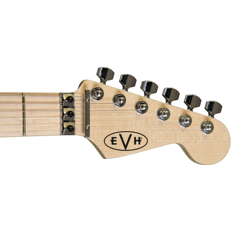 EVH Striped Electric Guitar Black with Yellow Stripes