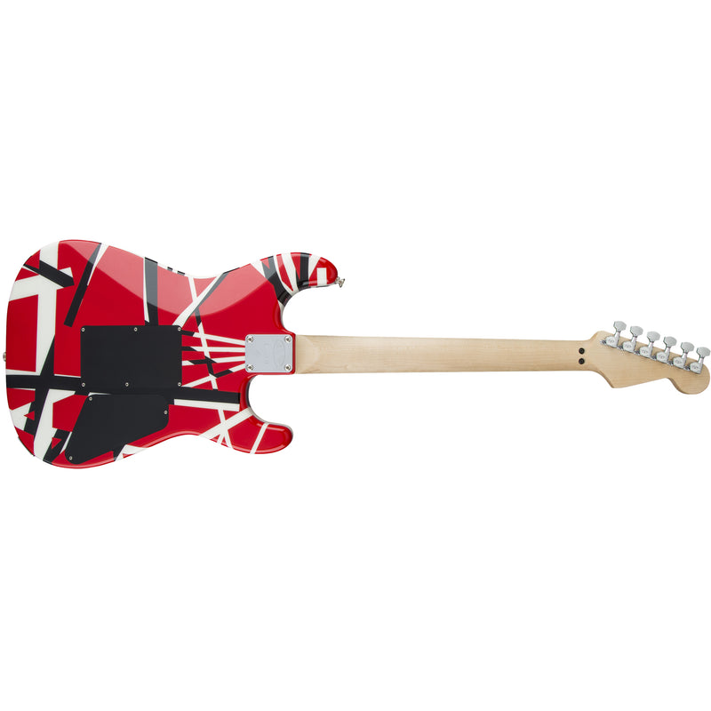 EVH Striped Series Left-Handed Guitar - Red, Black and White Stripes