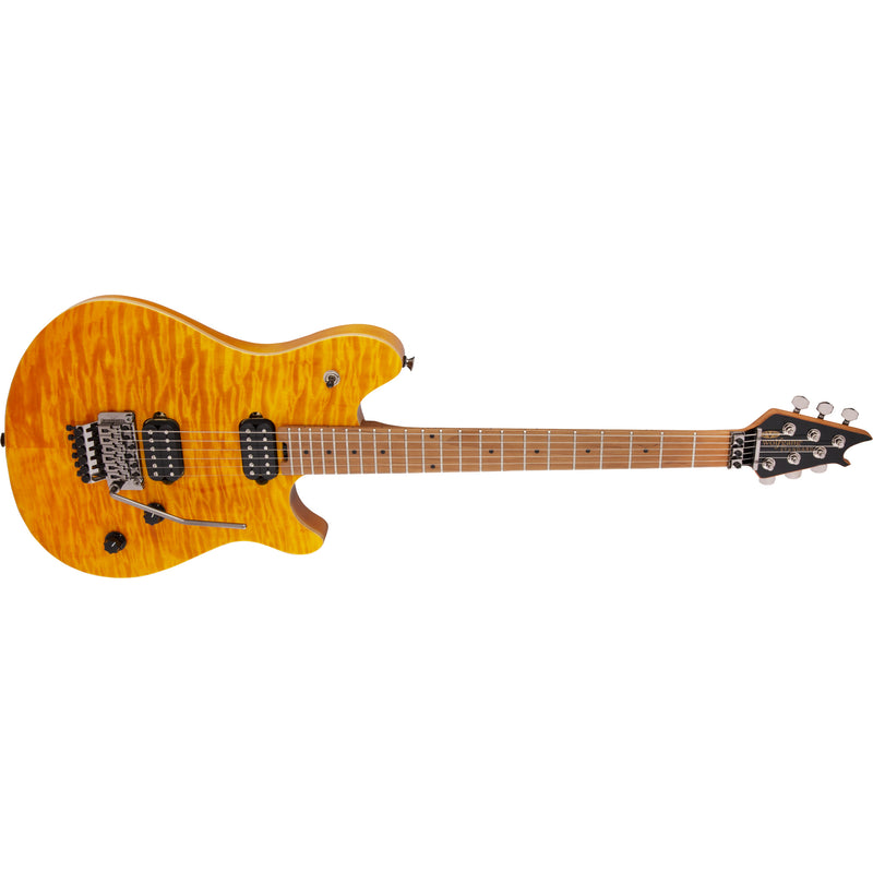EVH Wolfgang WG Standard Quilted Top w/Baked Maple Neck - Transparent Amber