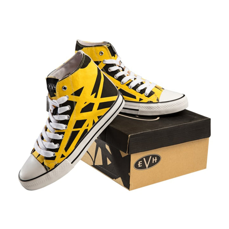 EVH Eddie Van Halen Yellow High Top Shoes - Size 8