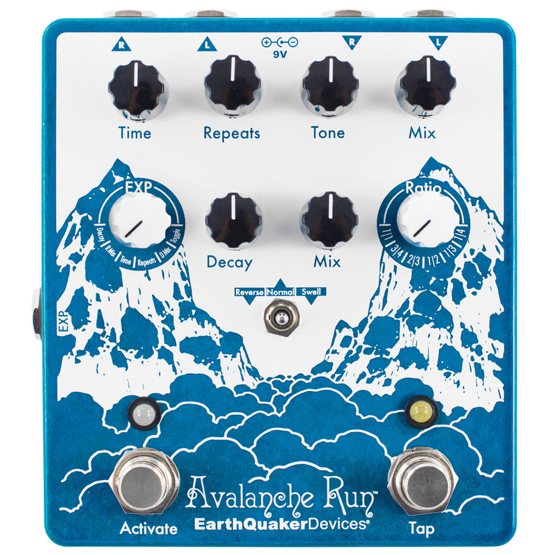 EarthQuaker Avalanche Run Stereo Delay & Reverb Pedal with Tap Tempo V2