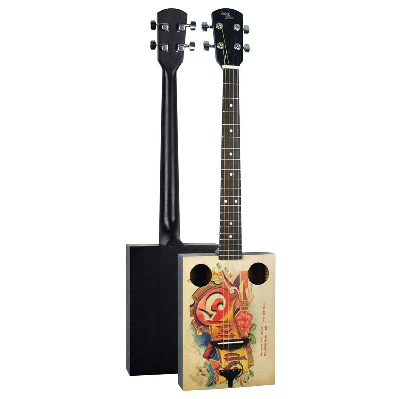 Eddy Finn EF-SP5 Cigar Box Acoustic Guitar - With Gig Bag