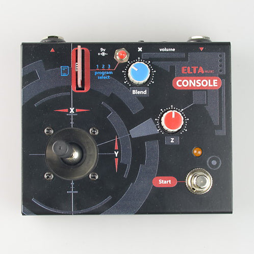 Elta Music Console Cartridge Based Digital Effects Pedal with Delay and Reverb Cartridges