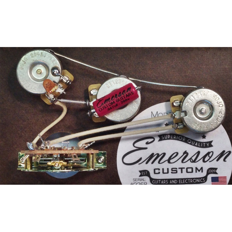 Emerson Custom S5 B 250k Strat 5 Way Blender Pre Wired Kit 250k Ohm Pots Amp 0 047uf Capacitor