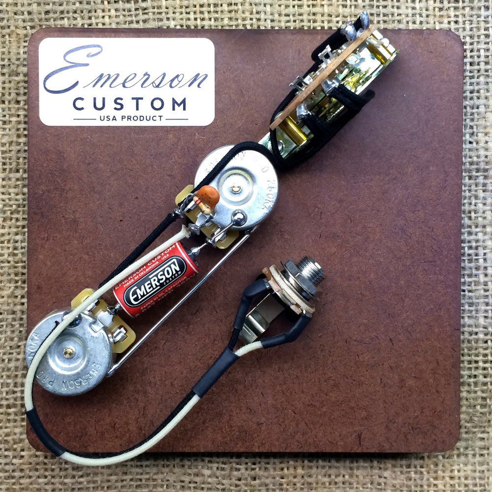 Guitar Parts Motor City Les Paul Pot Wiring On Tribute Harness Pots Switch Emerson T4 250k 4way Kit