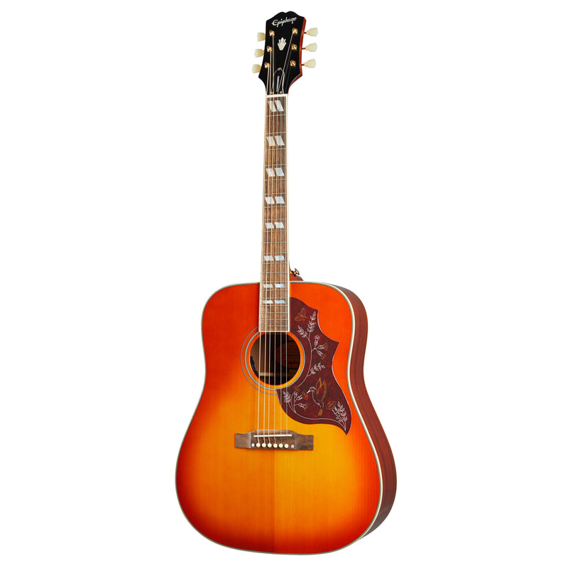 Epiphone Masterbuilt Hummingbird Acoustic Electric Guitar - Aged Cherry Sunburst Gloss