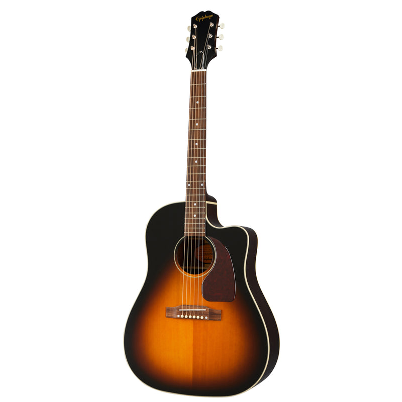 Epiphone Inspired by Gibson J-45 EC Acoustic-Electric Guitar Aged Vintage Sunburst