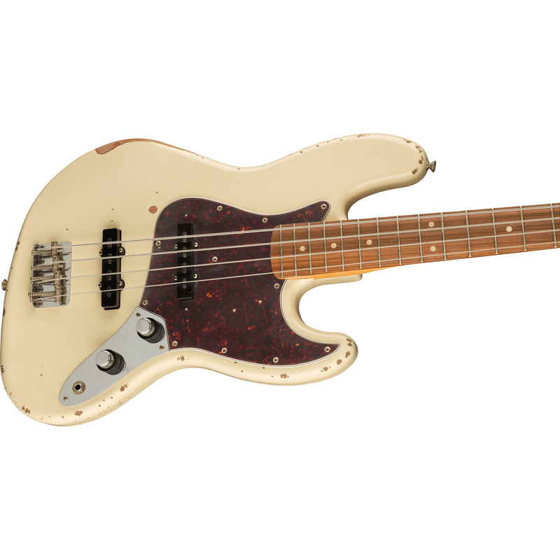Fender Limited Edition 60th Anniversary Road Worn Jazz Bass - Olympic White