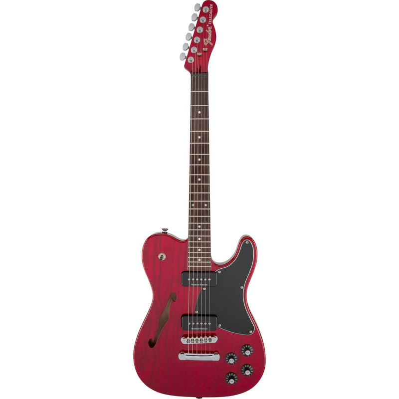 Fender Jim Adkins JA-90 Telecaster Thinline - Crimson Red Transparent