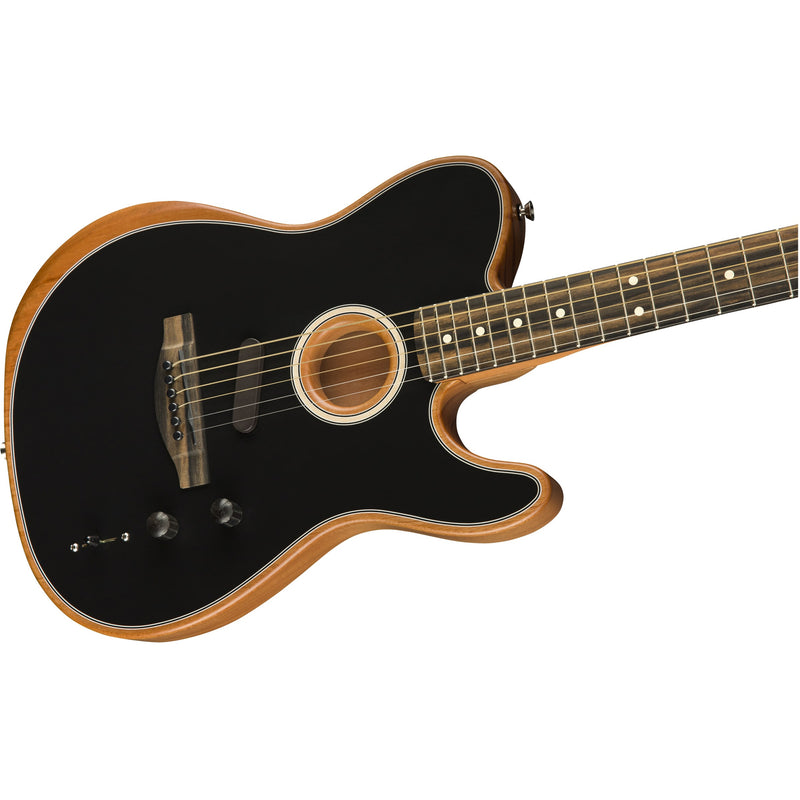 Fender American Acoustasonic Telecaster Acoustic-Electric Guitar - Black