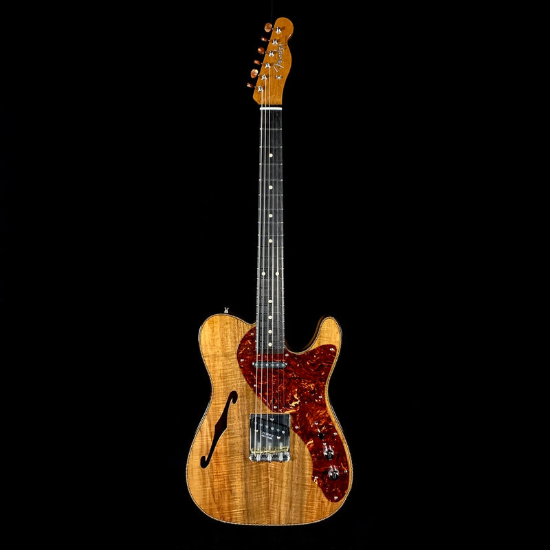 Fender Custom Shop Artisan Koa Thinline Tele w/African Blackwood Fingerboard - Aged Natural