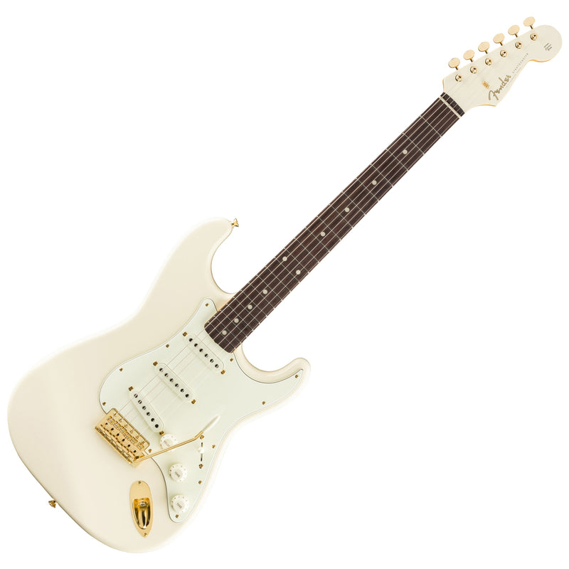 Fender FSR Made in Japan Traditional 60s Stratocaster Daybreak - Olympic White w/Matching Headcap & Gold Hardware