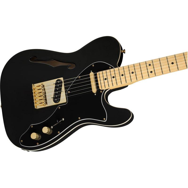 Fender 2019 Limited FSR Deluxe Telecaster Thinline - Satin Black w/Gold Hardware - 1 of 228 Made!