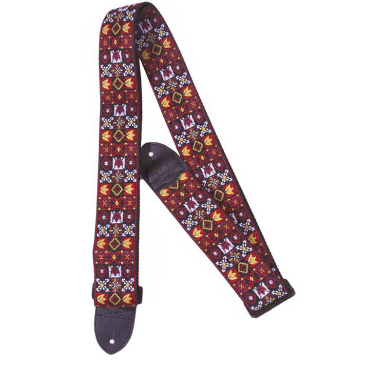 "Fender 2"" Hoot Wvn Strap, Red"