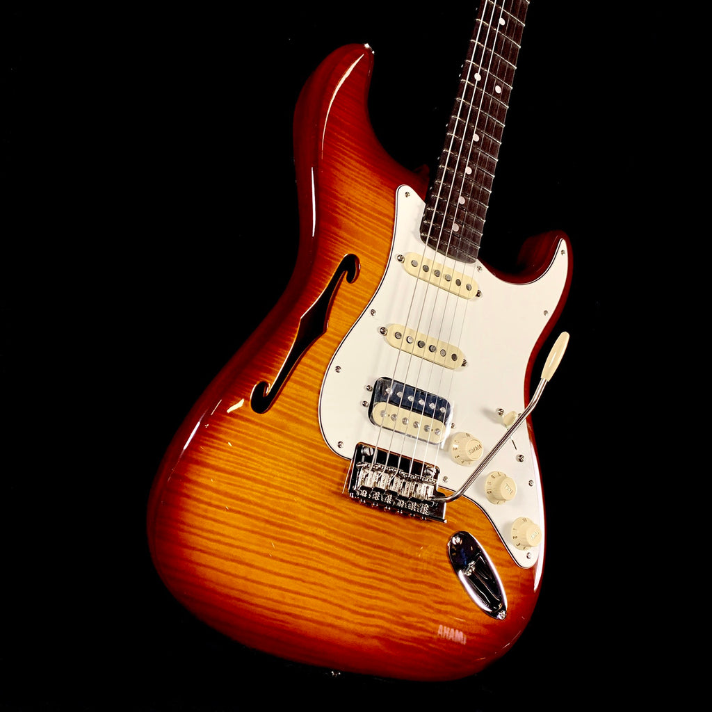 Fender Rarities Flame Maple Top Stratocaster HSS Thinline - Violin Burst w/ RW
