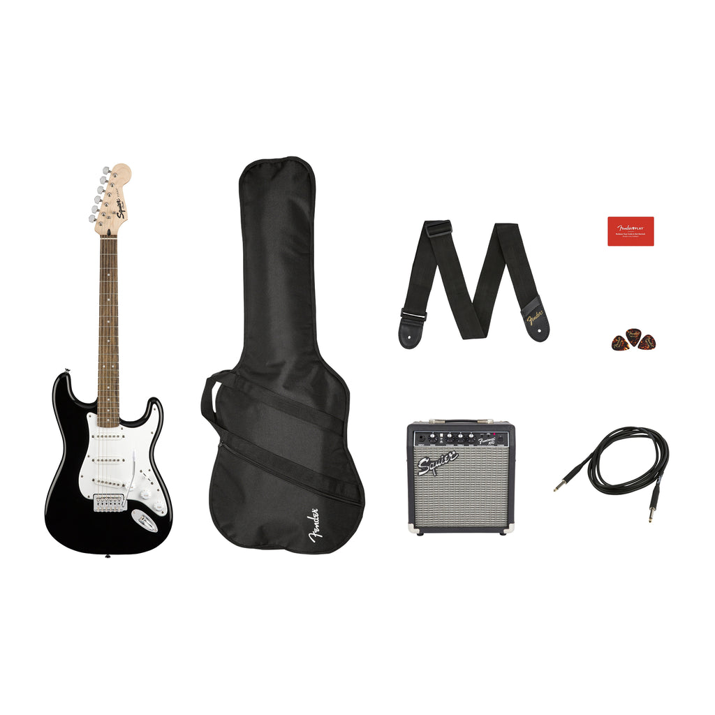 FENDERPK SQ STRAT BLK GB 10G