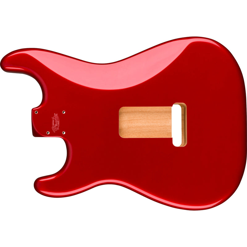 Fender Deluxe Series Stratocaster HSH Alder Body 2 Point Bridge Mount, Candy Apple Red