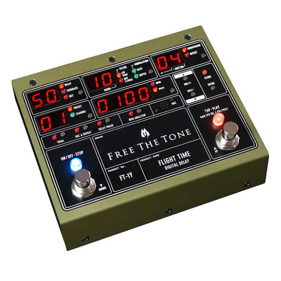 Free The Tone FT-2Y Flight Time 2 Digital Delay Electric Guitar Effects Pedal