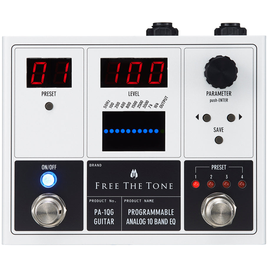 Free The Tone PA-1QG Programmable Analog 10-Band Guitar EQ Pedal