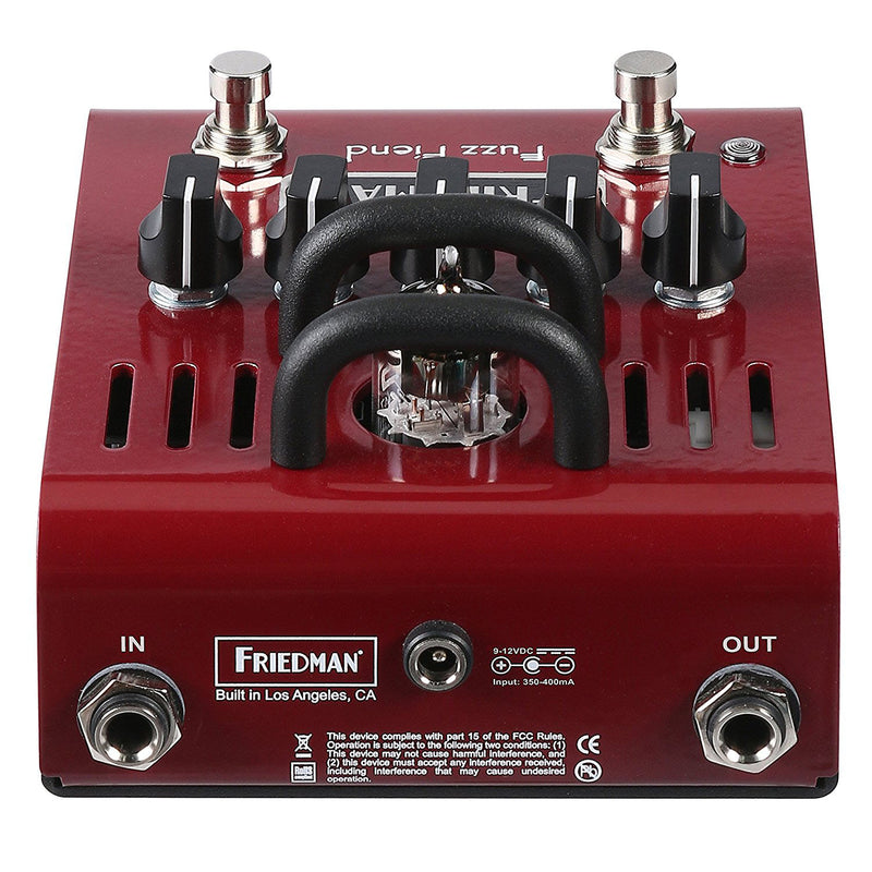 Friedman Amplification Fuzz Fiend 12AX7 Tube Powered Fuzz Electric Guitar Effects Pedal