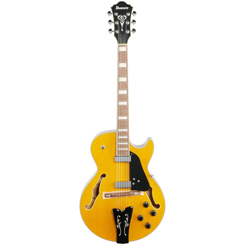 Ibanez GB10EMAA George Benson Signature Hollow Body Guitar - Antique Amber