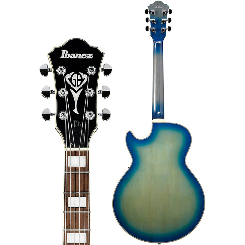 Ibanez GB10EMJBB George Benson Signature Hollow Body Guitar - Jet Blue Burst