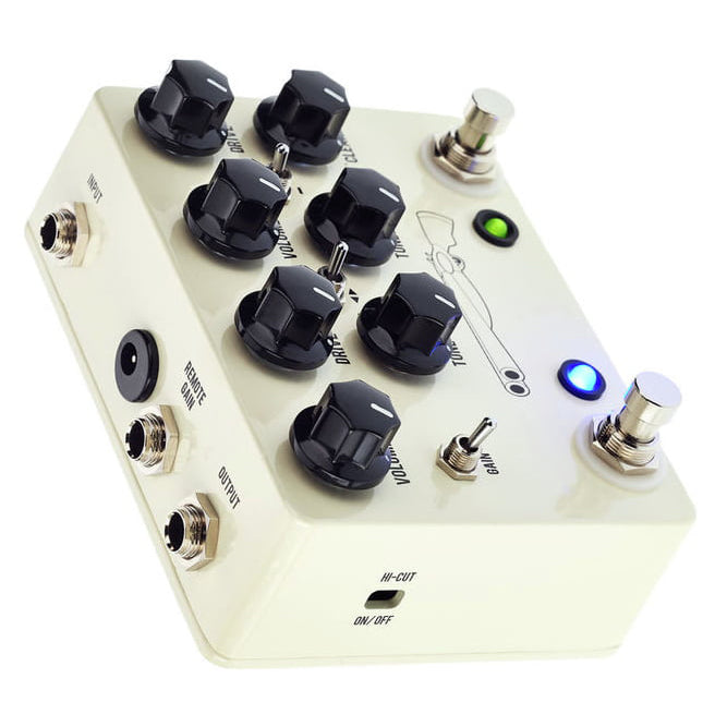 JHS Double Barrel 2-in-1 Overdrive Pedal V4