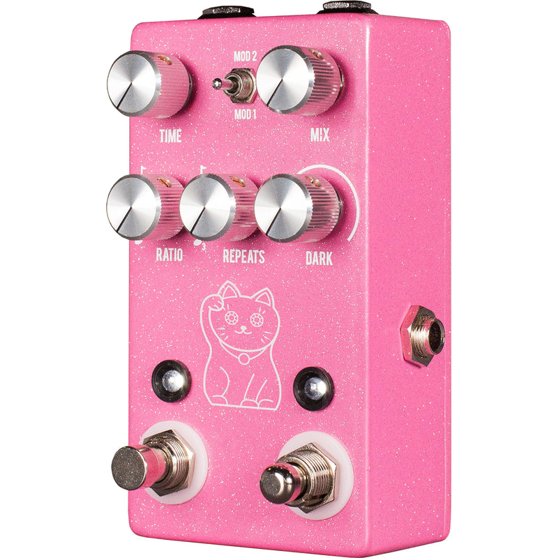 JHS Lucky Cat Tape/Digital Delay Pedal - Pink