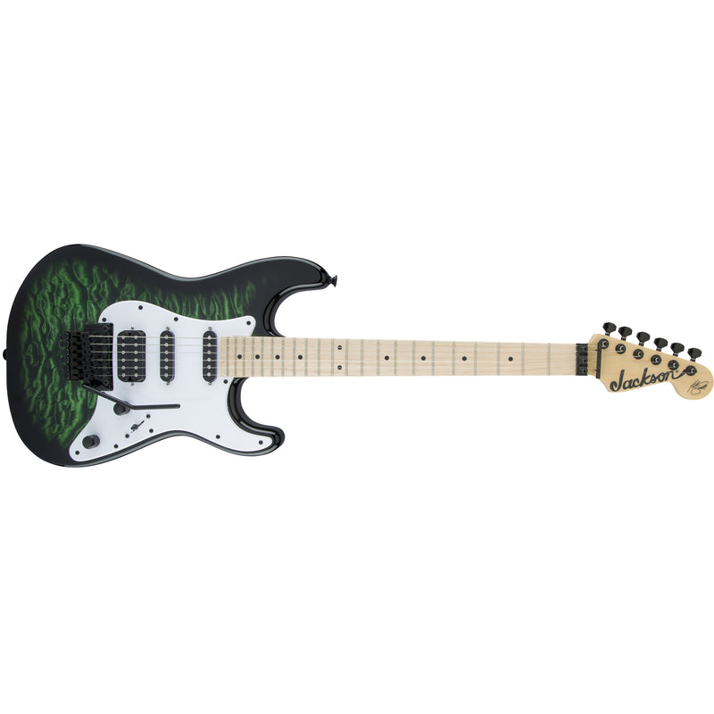 Jackson Adrian Smith Iron Maiden Signature SDXQ Electric Guitar - Transparent Green