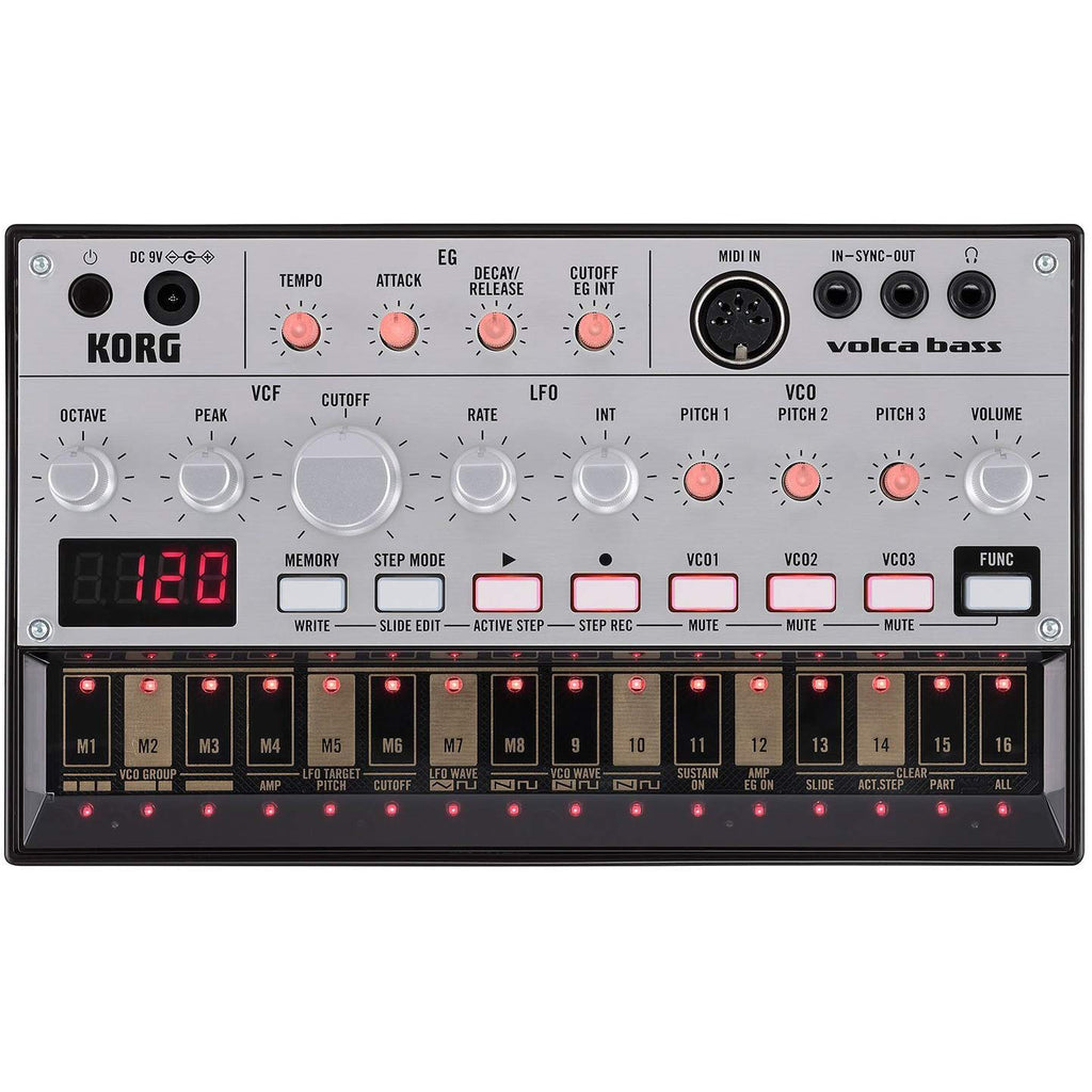 Korg Volca Bass Analog Bass Synth Module and Sequencer