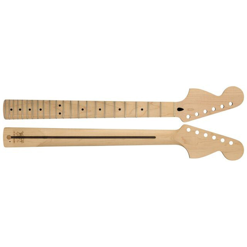 Mighty Mite MM2935CR-RH-M Fender Licensed Strat® Replacement Neck - C Profile 22 Fret Maple Reverse CBS Big Headstock