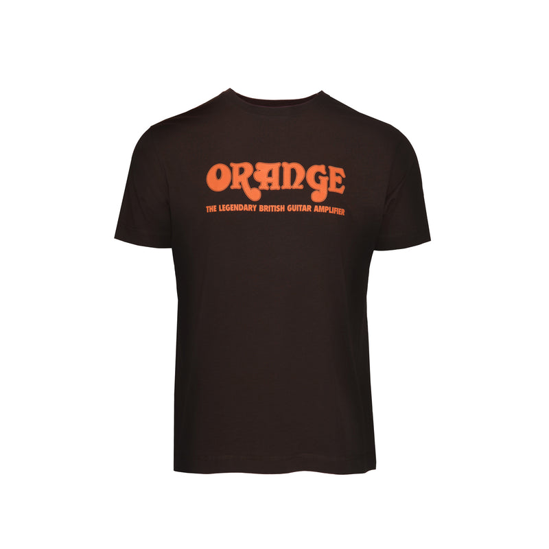 Orange Retro Brown T-Shirt L