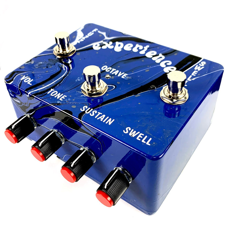 Prescription Electronics Experience Octave Fuzz & Swell Pedal - Limited Edition Blue Swirl Finish
