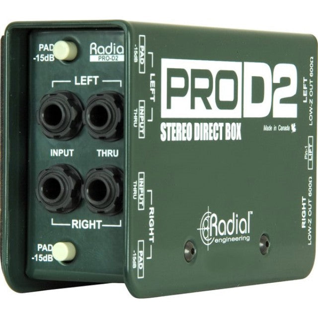 Radial ProD2 2-channel Passive Instrument Direct Box
