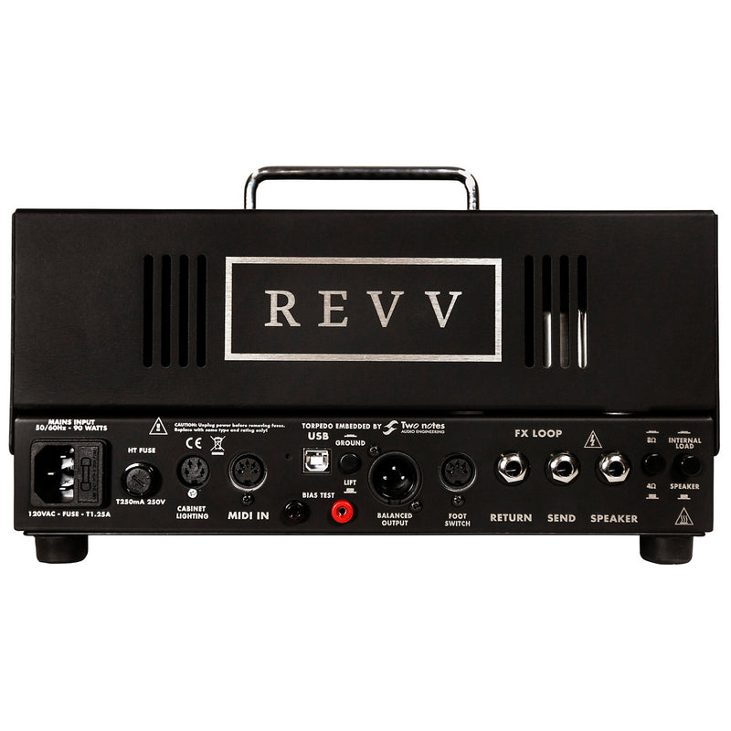Revv Amplification G20 High Gain 20-Watt Tube Guitar Amp Head - Black
