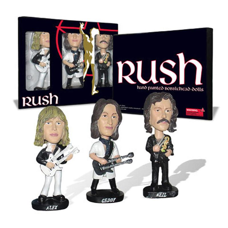 Rush Set Of 3 Bobbleheads