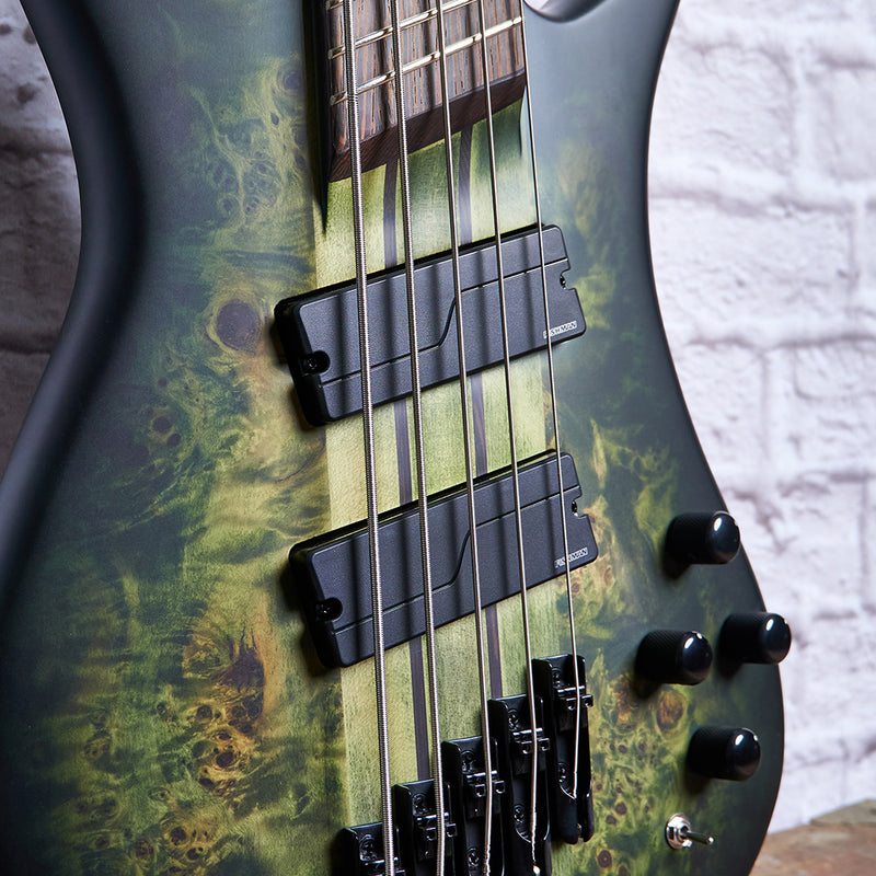 Spector NS Dimension 5 5-String Multi-Scale Bass w/ Fishman Pickups - Haunted Moss Matte