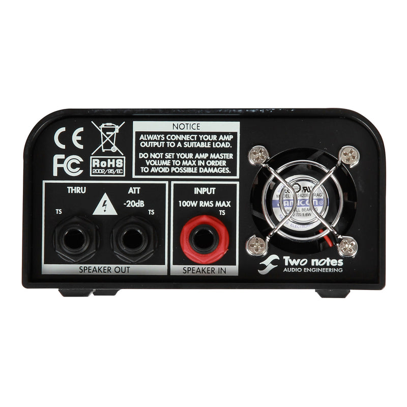 Two Notes Torpedo Captor Reactive Loadbox DI and Attenuator - 8 ohm