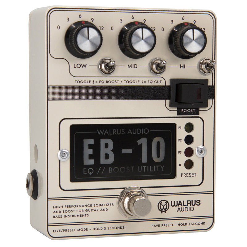 Walrus Audio EB-10 Preamp/EQ/Boost Pedal - Cream
