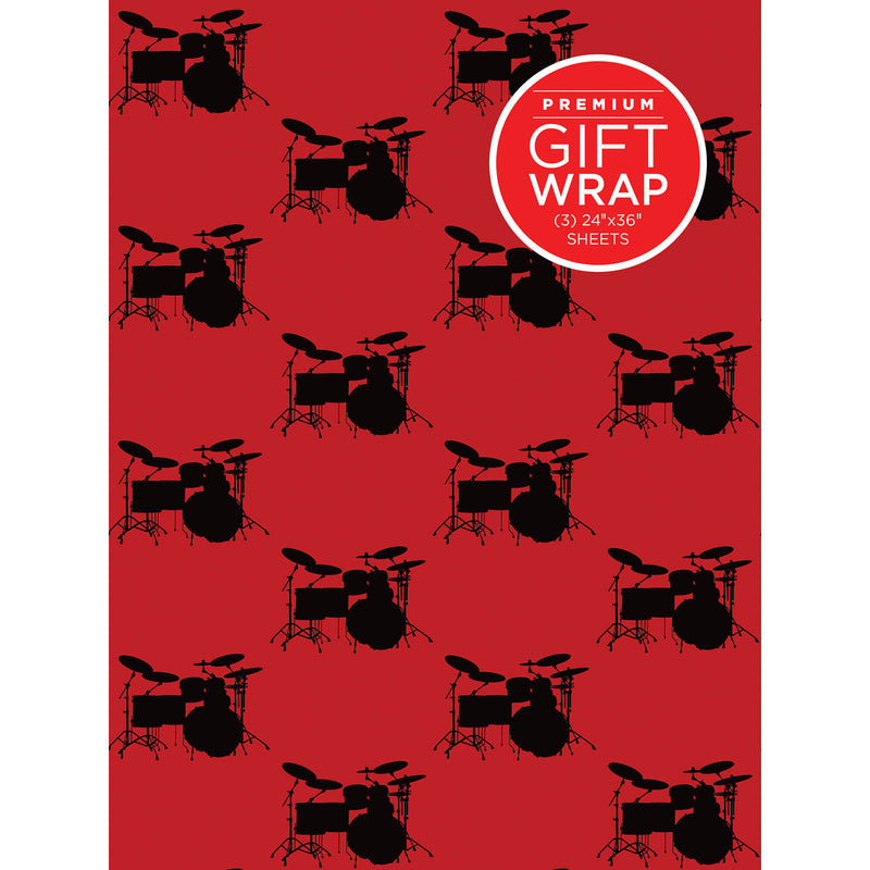 Wrapping Paper - Drumset Theme