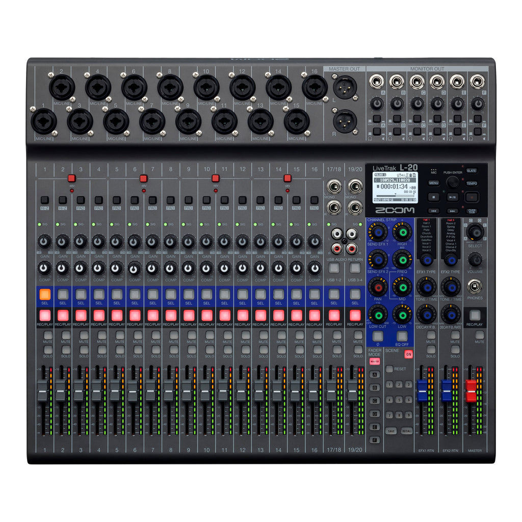 Zoom LiveTrak L20 Mixer/Rec